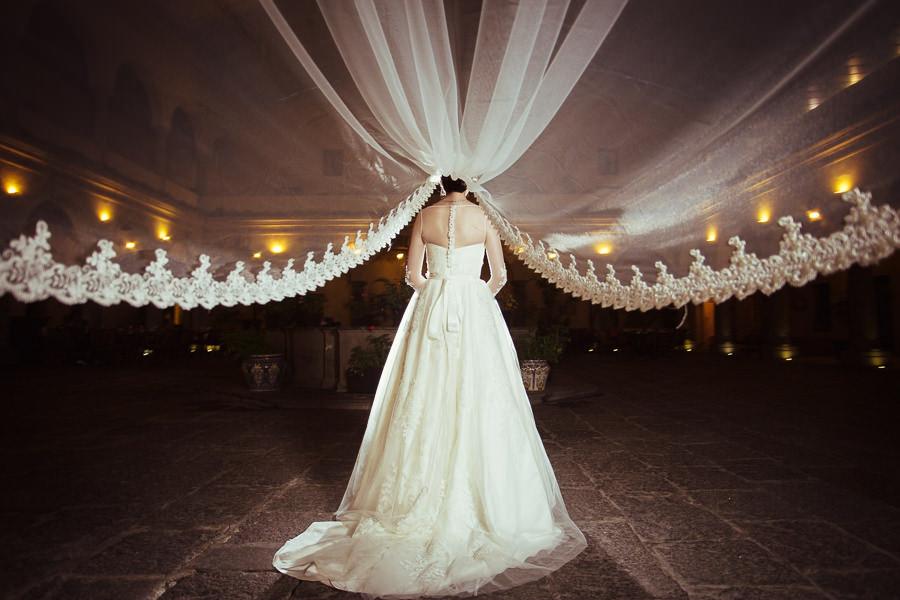 el velo de la novia en hotel quinta real puebla