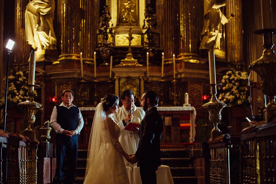 wide shot at puebla catedral