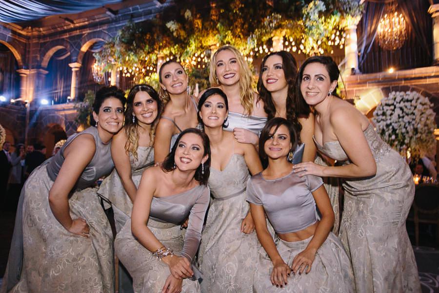 damas de honor - boda en el museo de arte virreinal