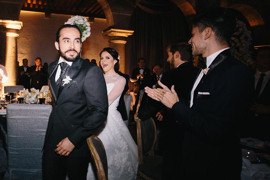 entrada a la fiesta - boda en museo de arte virreinal puebla