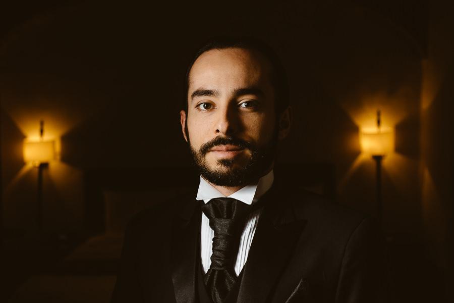 retrato del novio - boda en puebla mexico