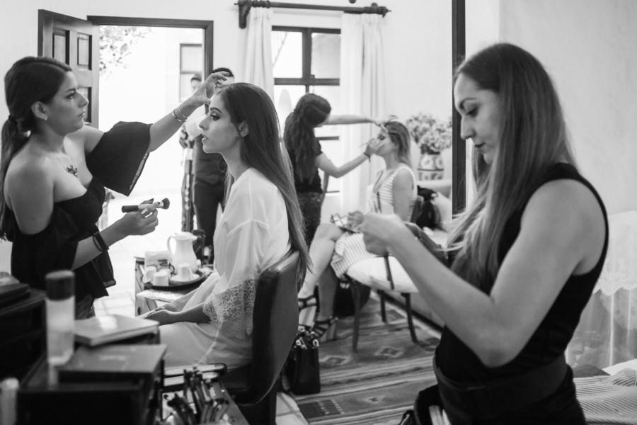 boda en san miguel de allende - novia y damas en maquillage