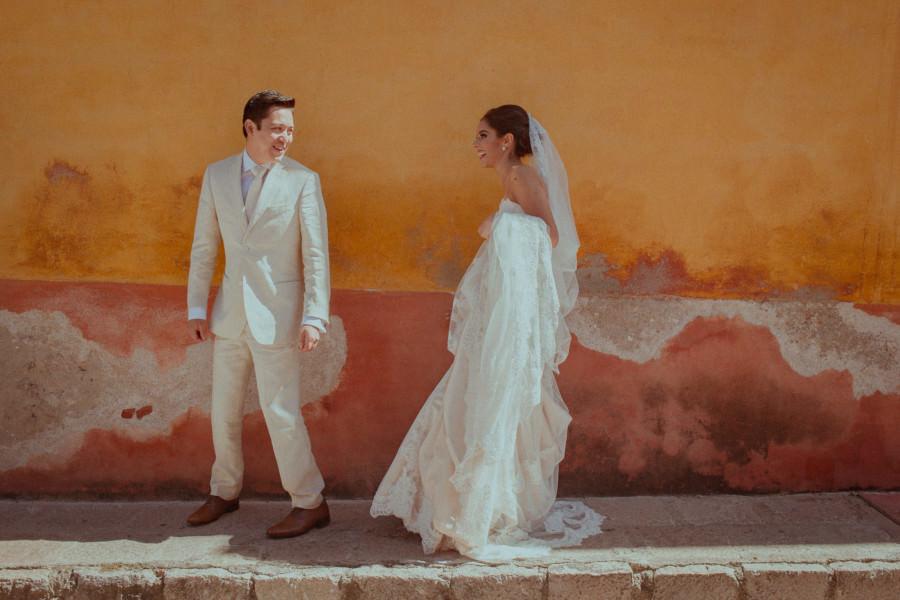 el encuentro de los novios - boda en san miguel de allende