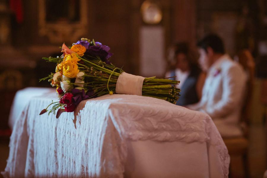 el ramo de la novia en Parroquia de San Miguel Arcángel