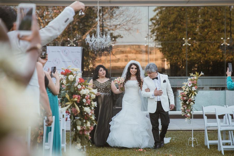 la novia y sus papas