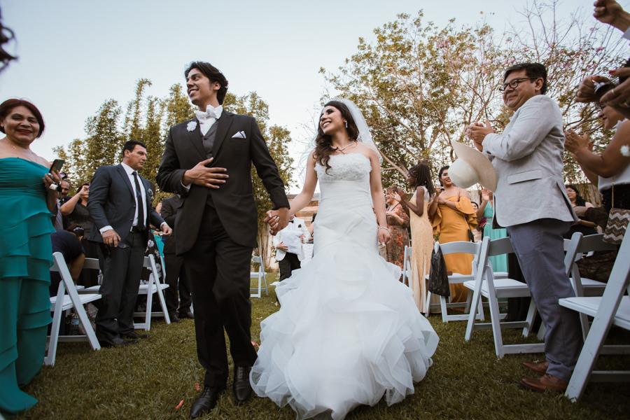 salida de los novios - boda en tuxtla gutierrez
