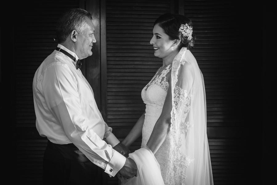 foto de la novia y su papa