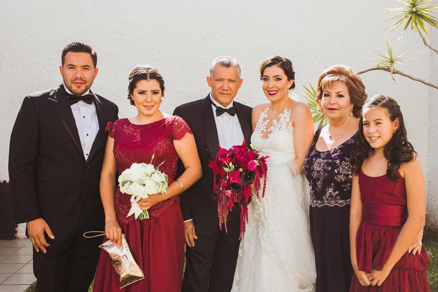 foto de la familia de la novia