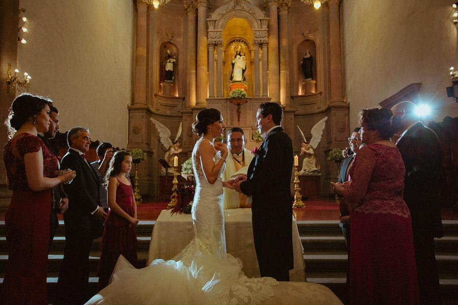 boda en querétaro entrega de anillos