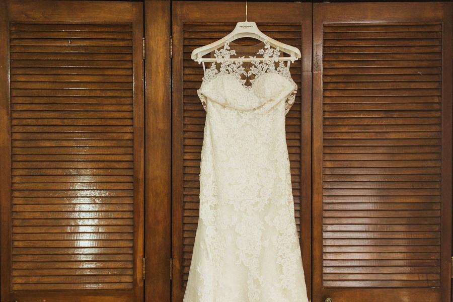 Vestido de novia en un boda en queretaro